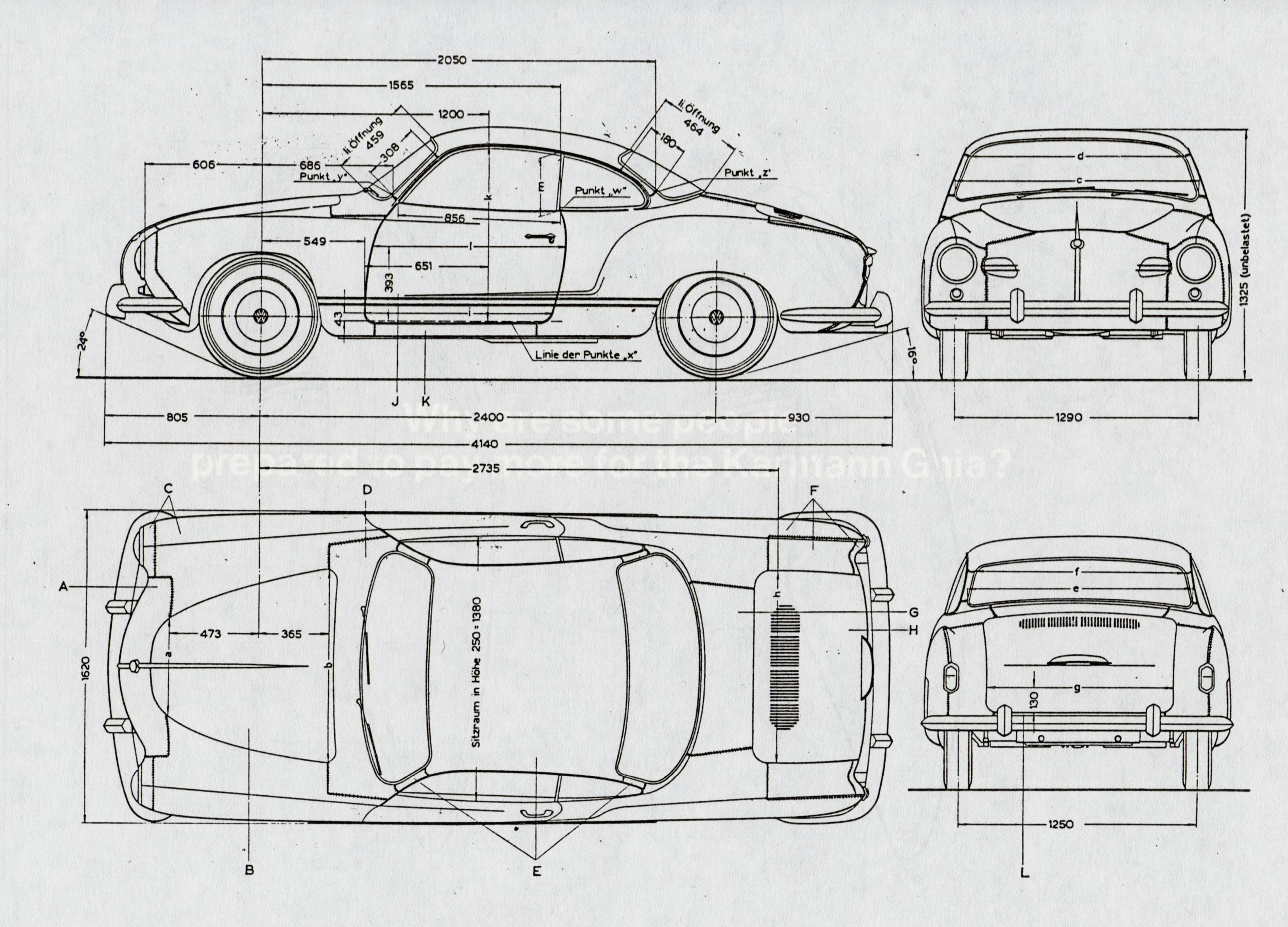 1 1974 Volkswagen Karmann Ghia Car Engine Diagram And